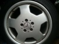 """4 x 17"""" alloys mercedes plus pirelli tyres"""