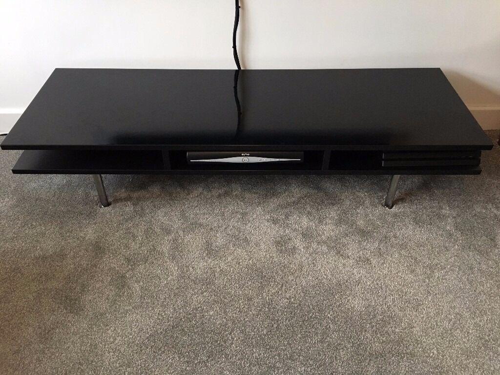 Ikea Tofteryd High Gloss Black Modern Tv Media Unit In Coppull  # Tofteryd Meuble Tv