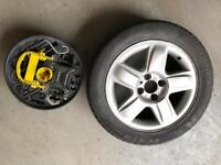 Renault Clio spare alloy wheel and jacking kit