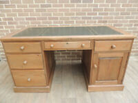 Welsh Pine Huge Pedestal 4 Part Desk (UK Safe Delivery)