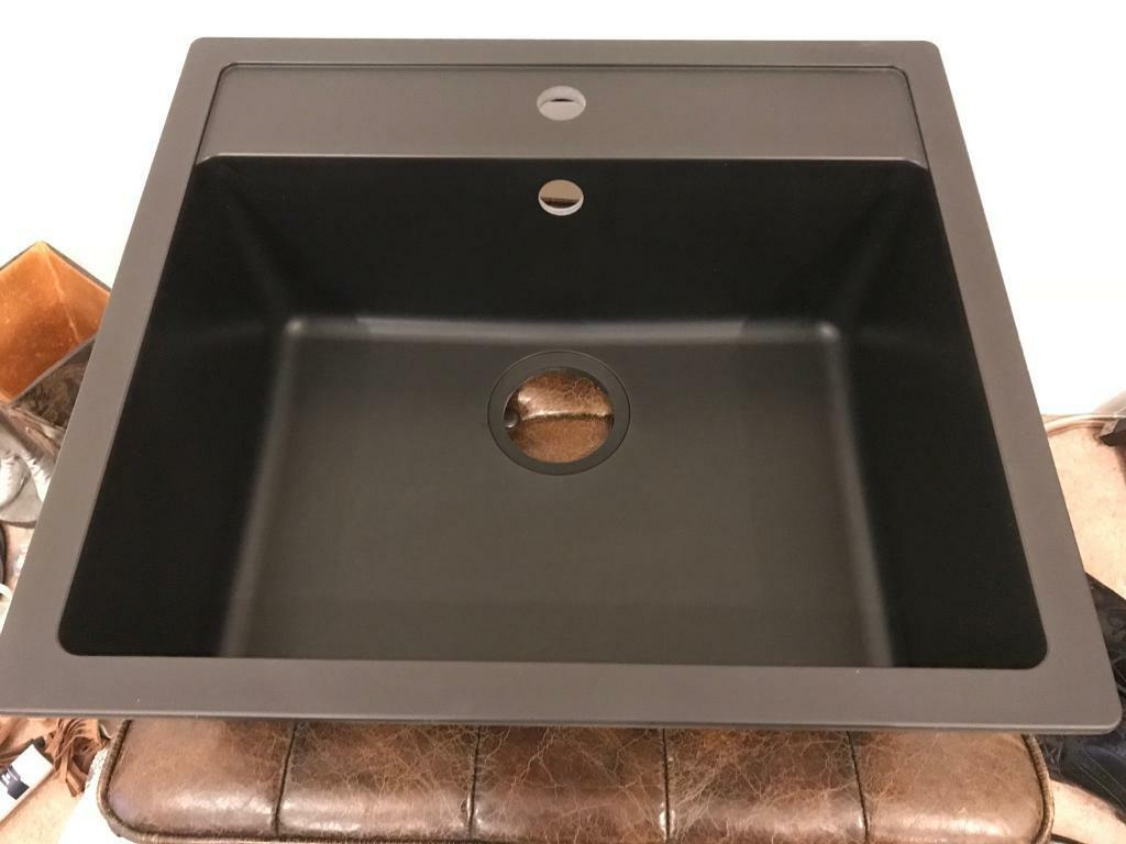 Ikea Hallviken Black Sink Bnib Rrp 175