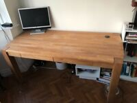 Solid Oak Vermont Office Computer Writing Desk