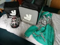 Deliveroo Bag, Thermal Bag, Jacket (Medium), Helmet, Full Kit