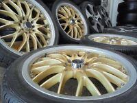 17ich bk bbs TT ALLOYS wheels MULTIFIT audi vw golf a3 seat beetle leon multifit subaru bora celica