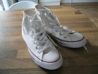 Converse all star high top, white, size 5, never worn