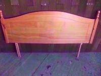 Light wood Double Headboard Delivery Available £5