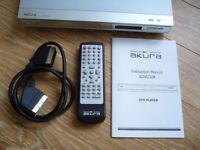 AKURA DVD PLAYER in Excellent condition with manual & lead