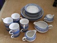 BHS Seville Blue and White Crockery Cups Bowls Jugs Sugar Bowls See Pictures