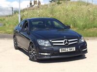 2012 Mercedes-Benz C Class 2.1 C220 CDI BlueEFFICIENCY AMG Sport Plus 7G-Tronic 2dr coupe**SPORT +