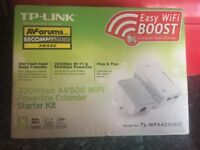 Brand new and sealed tp link model no TP-WPA4220KIT