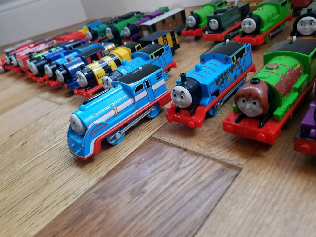 Incredible 26 Thomas Battery Trains Plus 122 Peices Of Track Including Turntables In Coventry West Midlands Gumtree Home Remodeling Inspirations Genioncuboardxyz