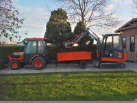 Volvo mini digger (no vat)loads off extras.