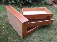 Warren Evans Solid Pine Underbed Storage Drawers