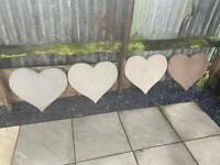 Love Heart Concrete Stepping Stone / Garden Ornament ~ New