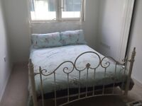 White Dunelm Mill Metal Double Bed