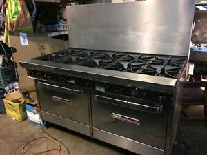 Southbend 10 burner gas range - 2 ovens below - electronic ignition - LIKE NEW - FREE SHIPPING