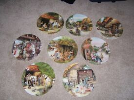 A Set of Eight Wall Plates