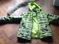 Girls ski jacket 11-12 yrs from Boden' trim to hood