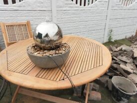 sphere water feature.