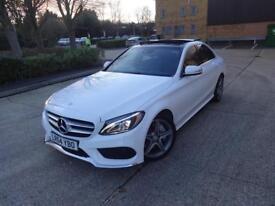 Mercedes-Benz C Class C250 Bluetec Amg Line Premium Plus (white) 2014