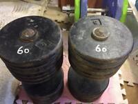 60kg dumbells
