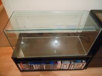 Glass fish tank / small animal housing in excellent condition, approx 78L.