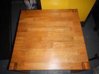 Heavy solid oak drawer coffee table