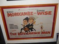 Rare vintage Morecombe & Wise Framed Film Poster - The Intelligence Men