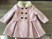 Girls Pink Next coat age 18-24 months