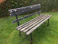 Vintage rustic garden bench seat
