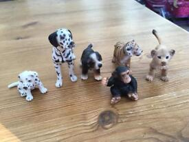 Collection of small Schleich animals