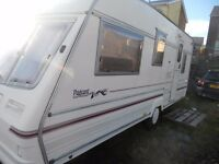 DEPOSIT TAKEN 4/5 BERTH BAILEY PAGEANT 1999. WITH AWNING & EXTRAS