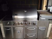 Large commercial gas barbeque