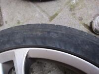 ALLOY WHEELS SET OF 4 (AUDI 4 OR DIFFERENT MAKE)