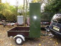 UNIQUE BOX/BED GOODS ROAD TRAILER 750KG UNBRAKED AS NEW...