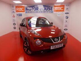Nissan Juke N-TEC(SAT&REVERSING CAMERA) FREE MOT'S AS LONG AS YOU OWN THE CAR!!! (red) 2013