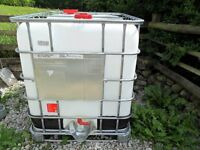IBC 1000 LITRE CONTAINERS FIRST CLASS CONDITION