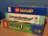 Children's CD Roms. Lego Island. Lego Rock Raiders. Carmen Sandiego
