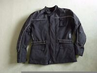 Motor cycle jacket Black XL. Lady's or men's