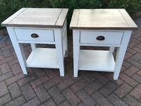 Pair of painted tables