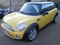 2007 Mini Cooper Hatch 1.6 Petrol 6 Speed Yellow 3 Door Low Miles 12 Months MOT & 3 Months Warranty