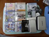 NINTENDO DS LIGHT WITH GAMES AND ACCESSORIES
