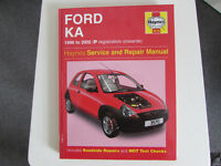 HAYNES WORKSHOP MANUAL FORD KA 1996-2002