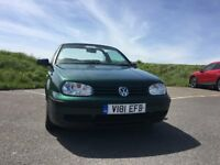 Volkswagon Golf Cabriolet SE 1999, MOT until May 2018.