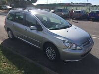 04 Peugeot 307 SW S HDI 2L Estate in lovely condition. MOT and service history.