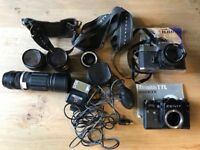 Vintage Camera Equipment Bundle