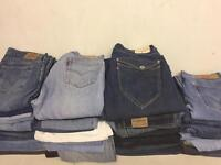 Levis, wranglers and Lee jeans