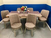💥💥SANTA SALE ⭐🌈ON LOUIS VUITTON EXTENDABLE DINING TABLE WITH 6 CHAIRS