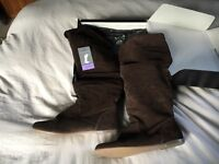 Brand new Next suede over the knee boots, size 6/39