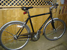 big framed raleigh oxford classic  with lights retro style